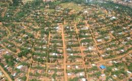 Vista aerea di Butembo